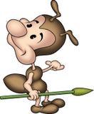 Pequeña hormiga 06 con la lanza Imagenes de archivo