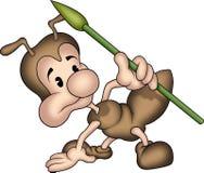 Pequeña hormiga 08 con la lanza Fotografía de archivo libre de regalías