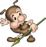 Pequeña hormiga 10 con la lanza Fotografía de archivo