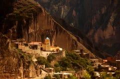 Pequeña iglesia en Iruya, la Argentina de la montaña Fotografía de archivo