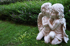Pequeña imagen del ángel del cupido Foto de archivo libre de regalías