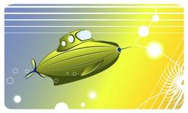 Pequeña imagen submarina verde del vector Imagen de archivo libre de regalías