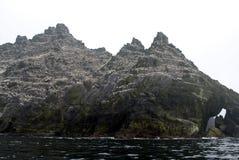 Pequeña isla de Skellig Michael en el Océano Atlántico Imágenes de archivo libres de regalías