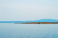 Pequeña isla desierta en el Adriático Fotografía de archivo libre de regalías
