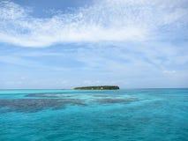 Pequeña isla en Belice Foto de archivo