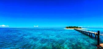 Pequeña isla en Fiji imagen de archivo libre de regalías