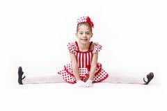 Pequeña Jazz Dancer Girl linda foto de archivo