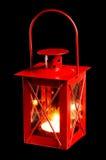 Pequeña linterna roja Fotografía de archivo