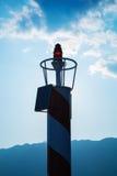 Pequeña linterna roja del faro Foto de archivo libre de regalías