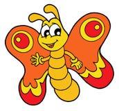Pequeña mariposa anaranjada ilustración del vector