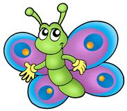Pequeña mariposa de la historieta ilustración del vector