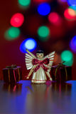 Pequeña muñeca iluminada del ángel Imagen de archivo
