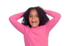 Pequeña muchacha africana sorprendida Foto de archivo libre de regalías