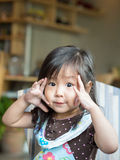 Pequeña muchacha asiática fotos de archivo