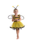 Pequeña muchacha de la abeja Fotos de archivo