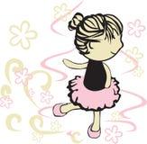 Pequeña muchacha de la bailarina Imagen de archivo