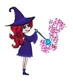 Pequeña muchacha de la bruja Fotografía de archivo libre de regalías