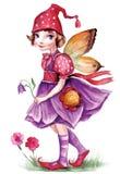 Pequeña muchacha del duende Imagen de archivo libre de regalías