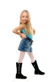 Pequeña muchacha divertida Imagen de archivo libre de regalías