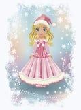 Pequeña muchacha elegante de Papá Noel, vector Imagenes de archivo