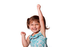 Pequeña muchacha feliz divertida del niño