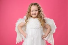 Pequeña muchacha hermosa del ángel Fotos de archivo