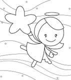 Pequeña muchacha linda del ángel libre illustration