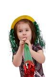 Pequeña muchacha linda en la Noche Vieja imagen de archivo libre de regalías