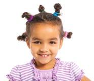 Pequeña muchacha negra Imagen de archivo
