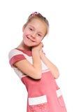 Pequeña muchacha positiva fotografía de archivo