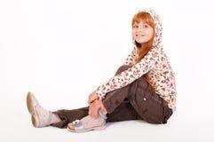 Pequeña muchacha redheaded fotografía de archivo libre de regalías