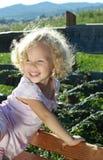 Pequeña muchacha rizada Foto de archivo libre de regalías