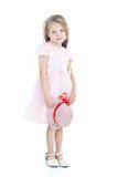 Pequeña muchacha rubia derecha Foto de archivo libre de regalías