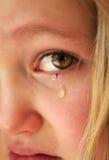 Pequeña muchacha triste Imagen de archivo libre de regalías