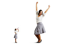 Pequeña mujer y mujer grande del baile imagen de archivo libre de regalías