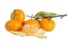 Pequeña naranja en el fondo blanco Imagen de archivo libre de regalías