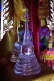 Pequeña pagoda de cristal de Buda Fotografía de archivo