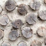 Pequeña pared de madera del círculo hermoso Imágenes de archivo libres de regalías
