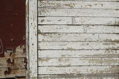 Pequeña pieza de la cerca vieja sucia Fotografía de archivo