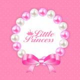 Pequeña princesa Background Vector Illustration Imagen de archivo libre de regalías