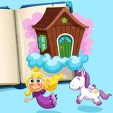 Pequeña princesa con el potro Imágenes de archivo libres de regalías