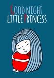 Pequeña princesa de las buenas noches Imagen de archivo