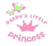 Pequeña princesa del papá Fotografía de archivo