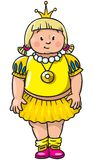 Pequeña princesa gorda Fotos de archivo libres de regalías