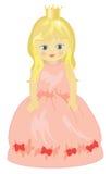 Pequeña princesa linda stock de ilustración