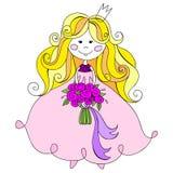 Pequeña princesa linda Ilustración del vector Foto de archivo libre de regalías