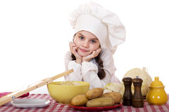 Pequeña principal cocina hermosa en el escritorio con las verduras Imagenes de archivo