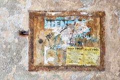 Pequeña puerta de acceso a la centralita telefónica electical Fotos de archivo