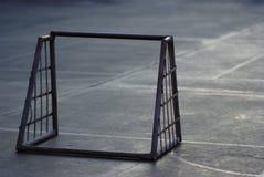Pequeña puerta del fútbol del hierro Imagen de archivo