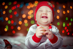 Pequeña risa del muchacho Foto de archivo libre de regalías